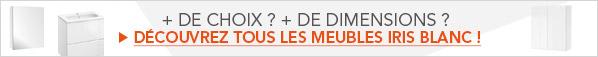 Découvrez tous les meubles de Salle De Bains Iris Blanc