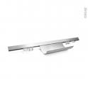 Kit barre de crédence - L60 cm - Aluminium - SOKLEO