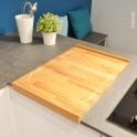 Planche à découper réversible - de cuisine - Bois hêtre naturel - SOKLEO
