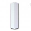 Raccord de plinthe de cuisine - Jonction d'angle ou droite - Hauteur 15 cm - Blanc brillant - SOKLEO