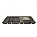 Range couverts - pour tiroir L100 cm - Anthracite - Porte rouleau - Planche à découper bois - SOKLEO