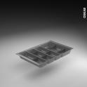 Range couverts - tiroir L40 cm - Anthracite - Avec séparateurs modulable - SOKLEO