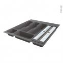 Range couverts - pour tiroir L50 cm - Anthracite - Porte rouleau - SOKLEO