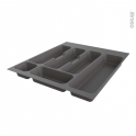 Range couverts - tiroir L50cm - Anthracite - SOKLEO