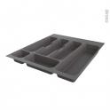 Range couverts - tiroir à l'anglaise L50cm - Anthracite - SOKLEO