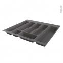 Range couverts - tiroir L60cm - Anthracite - SOKLEO