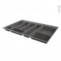 Range couverts - pour tiroir à l'anglaise L80cm - Anthracite - SOKLEO