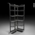 SOKLEO - Rangement armoire - 12 paniers plateaux - L60xH195 EPOXY Anthracite
