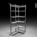 SOKLEO - Rangement armoire - 12 paniers plateaux - L60xH195 EPOXY gris