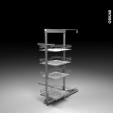 SOKLEO - Rangement armoire - 4 paniers plateau - L40xH125 EPOXY