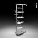 SOKLEO - Rangement armoire - 6 paniers plateau - L40xH195 EPOXY