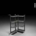 SOKLEO - Rangement armoire - 8 paniers plateaux - L60xH125 EPOXY Anthracite