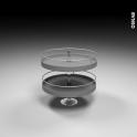 SOKLEO - Rangement angle haut - Tourniquet fond plat EPOXY gris