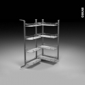 SOKLEO - Rangement armoire - 8 paniers plateaux - L60xH125 EPOXY