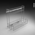 SOKLEO - Rangement lessiviel - 2 étages panier - L40xH70 EPOXY