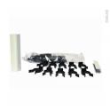 Sachet fixation - avec clips et raccords - pour plinthe de cuisine PVC - Blanc brillant - SOKLEO