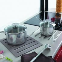 Repose casserole design - Dessous de plat 2 en 1 - En silicone - Pour plan de travail - SOKLEO