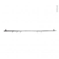 SOKLEO - Barre de crédence - Chromée - 100cm