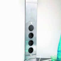 Bloc 3 prises cuisine - Angle avec interrupteur - Ajustable
