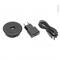 Chargeur à induction cuisine - 1 USB - Noir