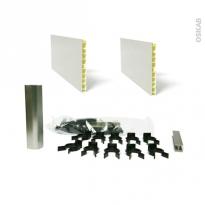SOKLEO - Kit 2 plinthes PVC - Alu - Avec sachet fixation - L400xH15
