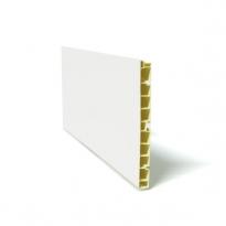 SOKLEO - Plinthe PVC - Blanc brillant - L200xH15