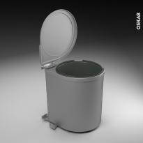 Poubelle de porte - 13L - 1 seau sous évier - L28 x H35 cm - SOKLEO