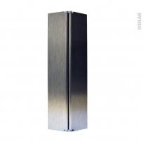 Raccord de plinthe de cuisine - Jonction d'angle ou droite - Hauteur 15 cm - Inox brossé - SOKLEO