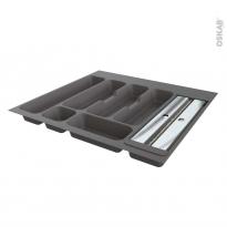 Range couverts - pour tiroir L60 cm - Anthracite - Porte rouleau - SOKLEO