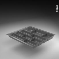 Range couverts - tiroir L60 cm - Anthracite - Avec séparateurs modulable - SOKLEO