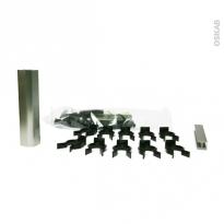 Sachet fixation - avec clips et raccords - pour plinthe de cuisine PVC - Alu - SOKLEO