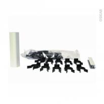 SOKLEO - Sachet fixation plinthe PVC - blanc brillant