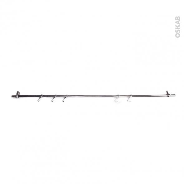 Barre de crédence - Chromée - 100 cm - SOKLEO