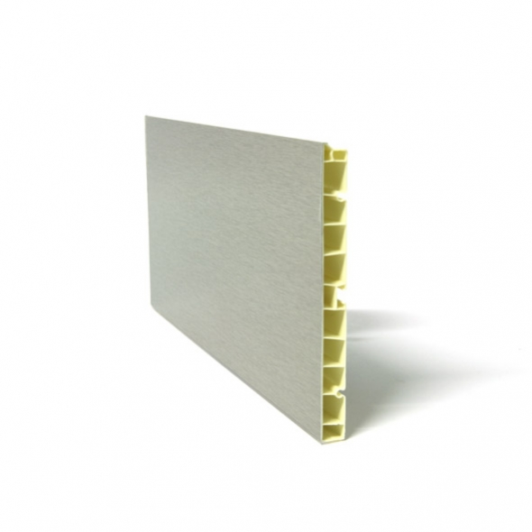 Plinthe De Cuisine   PVC   Alu Brossé   L200 X H15 Cm   SOKLEO