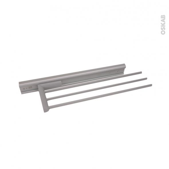 porte torchon de cuisine coulissant 3 broches epoxy gris sokleo
