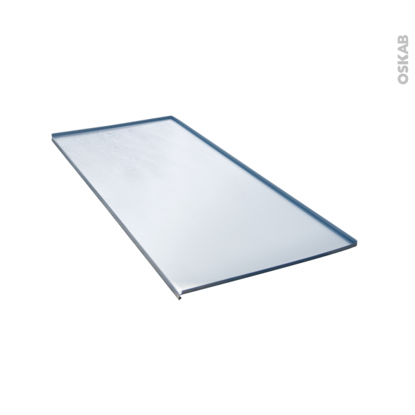 Protection aluminium - Pour meuble sous-évier L100 - avec rebords caoutchouc - anti-fuites - SOKLEO