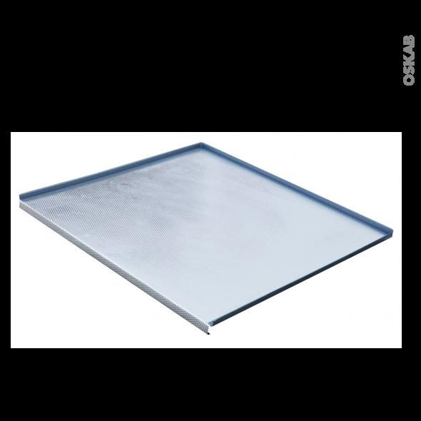 Protection aluminium - Pour meuble sous-évier L60 - avec rebords caoutchouc - anti-fuites - SOKLEO