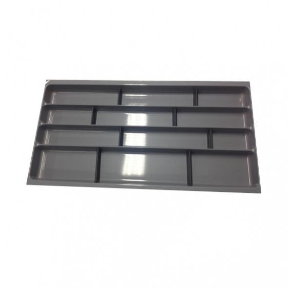 Range couverts - tiroir L100 cm - Anthracite - Avec séparateurs modulable - SOKLEO