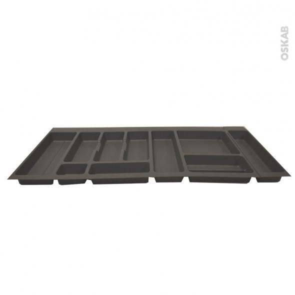 Range couverts- pour tiroir à l'anglaise L100 cm - Anthracite - SOKLEO