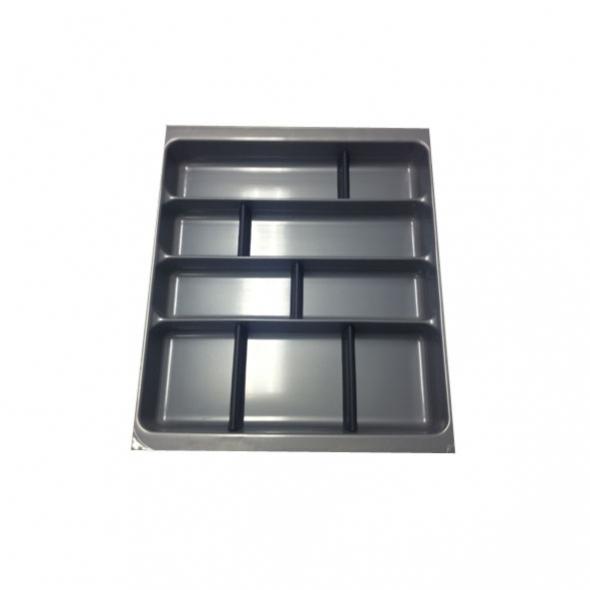Range couverts - tiroir L50 cm - Anthracite - Avec séparateurs modulable - SOKLEO