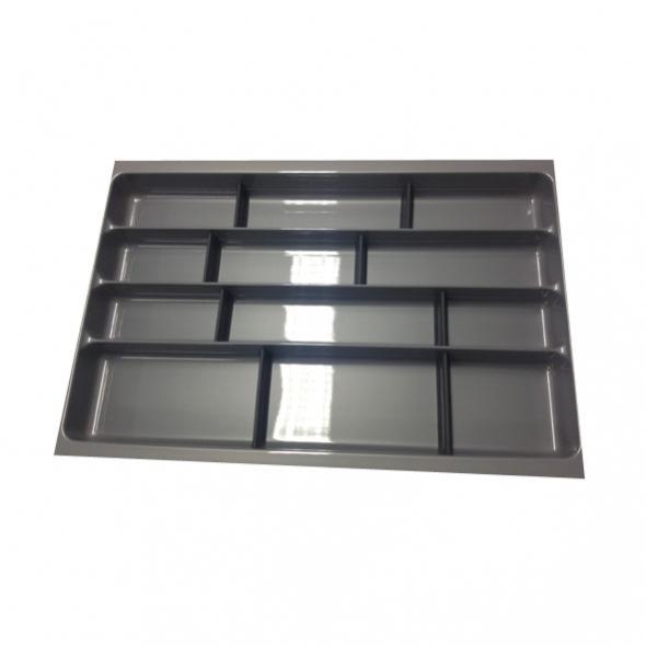 Range couverts - tiroir L80 cm -  Anthracite - Avec séparateurs modulable - SOKLEO