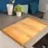 #Planche à découper réversible - de cuisine - Bois hêtre naturel - SOKLEO