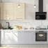 #Meuble de cuisine - Angle bas - HODA Béton - Demi lune coulissant EPOXY - Tirant droit 1 porte L60 cm - L100 x H70 x P58 cm