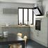 #Colonne de cuisine N°2158 - Four encastrable niche 45  - FAKTO Béton - 1 porte 3 tiroirs - L60 x H195 x P58 cm