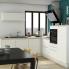 #Colonne de cuisine N°2158 - Four encastrable niche 45  - PIMA Blanc - 1 porte 3 tiroirs - L60 x H195 x P37 cm
