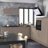 #Colonne de cuisine N°1059 - Four+MO encastrable niche 36/38 - GINKO Taupe - 1 abattant 3 tiroirs - L60 x H195 x P58 cm