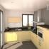 #BETULA Bouleau - Armoire frigo N°27  - 1 porte - L60xH125xP58