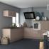 #Meuble de cuisine - Casserolier - KERIA Moka - 2 tiroirs - L60 x H70 x P58 cm