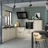 #Meuble de cuisine - Angle bas - IKORO Chêne clair - Demi lune coulissant - Tirant droit 1 porte L40 cm mobile - L80 x H70 x P58 cm