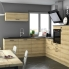 #Meuble de cuisine - Bas suspendu - HOSTA Chêne naturel - 1 porte - L60 x H57 x P58 cm